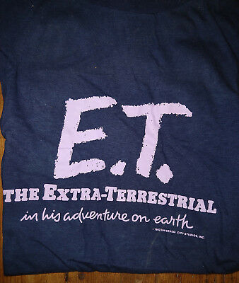1982- Vintage E.T EXTRA-TERRESTRIAL Tee Shirt - Large