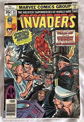 Marvel Comics The Invaders #24 1978 Golden Age Reprint VG (4.0)