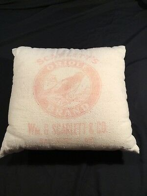 Vintage Baltimore Advertising Pillow SCARLETT's ORIOLE BRAND Seed Distributers