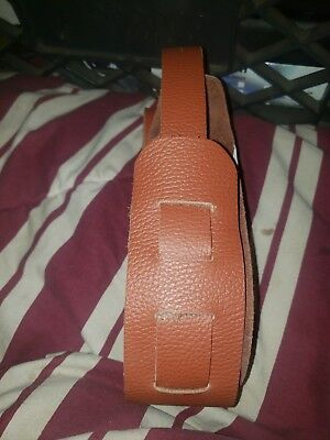 Amish made Light brown guitar strap leather