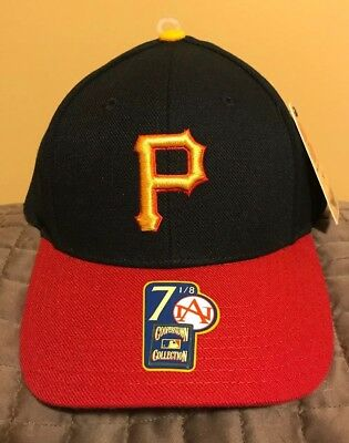 new arrival 57bdf b67d3 Pittsburgh Pirates American Needle Cooperstown Collection Fitted Hat 7 1 8  Black
