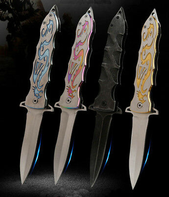 Camping Spring Assisted Stiletto Tactical Folding Pocket Knife Survival Tool Us