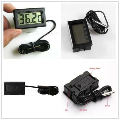 Mini LCD Digital Thermometer Hygrometer Temp Humidity Meter Gauge with Probe