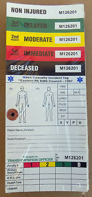 Sealed 50 Pack ~ EMS Mass Casualty Incident Triage Tags Patient Management  DOA