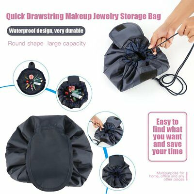 Fashion Waterproof Large Capacity Quick Drawstring Makeup Jewelry Storage Bag BA