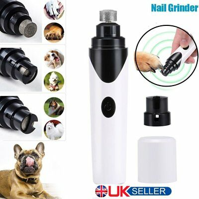 Pet Dog Cat Nail Claw Grooming Grinder Trimmer Clipper Electric Nail File BX