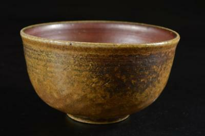 G3283: Japanese Bizen-ware Youhen pattern TEA BOWL Green tea tool Tea Ceremony