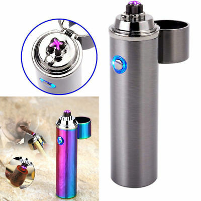 Electric USB Rechargeable Triple Arc 4 Cross Plasma Flameless Windproof Lighter