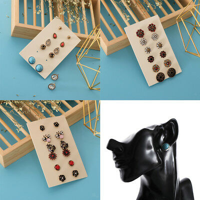 6 Pairs Vintage Boho Multiple Assorted Stud Earrings for Women Girl