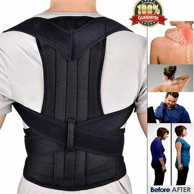 Posture Clavicle Support Corrector Back Straight Shoulders Brace Strap Correct 7