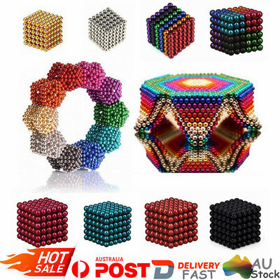 216Pcs 5mm Magic Magnetic DIY Balls 3D Magnet Sphere Neodymium Beads Cubes AU