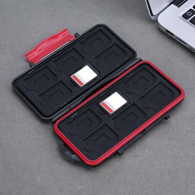 Waterproof Shockproof Hard Storage Protector Memory 12Pcs SD Card Case Cover Box
