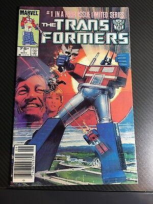 TRANSFORMERS #1    Newsstand UPC Cover Marvel FN+