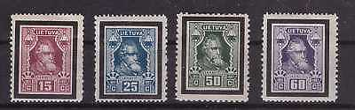 Lithuania 1927 - Jonas Basanavičius Memorial Issue Mi. 274-277 MH