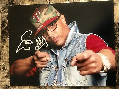 T.I. TI Tip Clifford Harris Hand Signed Autographed 11x14 Photo Rapper Actor