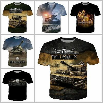 NEW Official Men/'s T-shirt WOT ULTRA HD printing World of Tanks