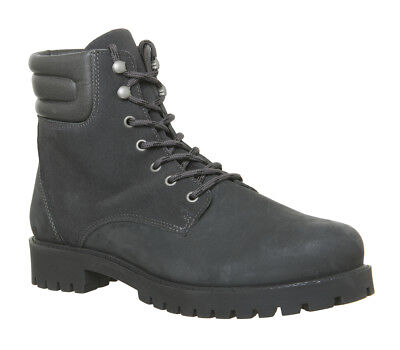 Mens Ask The Missus Ion Lace Boots Grey Nubuck Boots