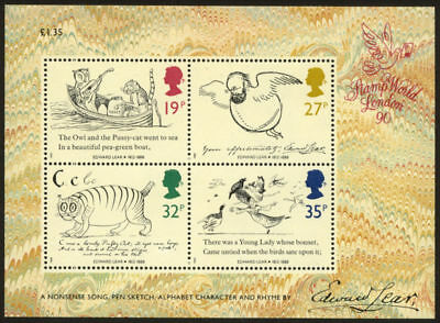 GB 1988 Commemorative Stamps~Edward Lear~ M/S~Unmounted Mint Set~UK