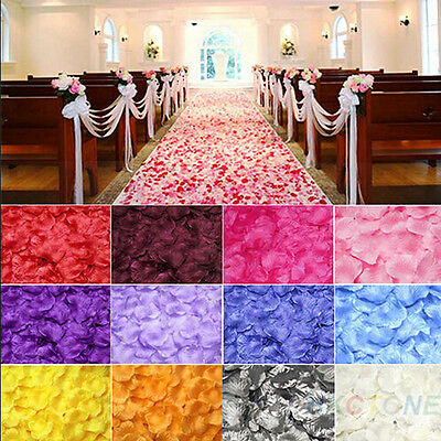 1000pcs Silk Rose Petals Flower Confetti Engagement Wedding Party Decoration Mj