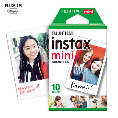 10 Scatti Fuji Instax Mini Pellicola Film Per Fujifilm Mini 7s/8/25/50/90/70 IT