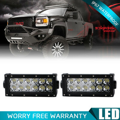 2X 7INCH 36W Spot Led Work Light Bar Offroad For Jeep Truck SUV Van UTE ATV Ford