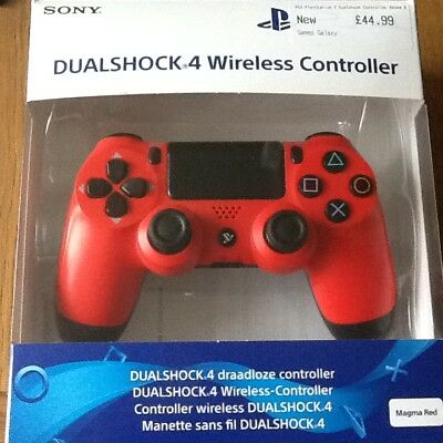 Sony PlayStation DualShock 4 Wireless Controller - Magma Red Used, in box.