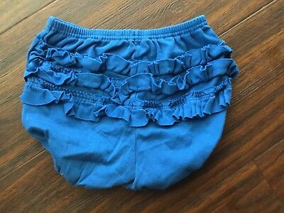 PETIT BATEAU blue frilly girls pants size 2 years.