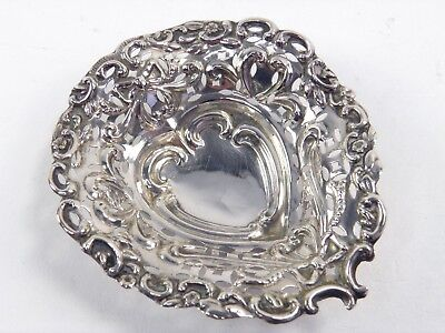 Antique 19th century .925 sterling silver trinket pin dish Birmingham 1897