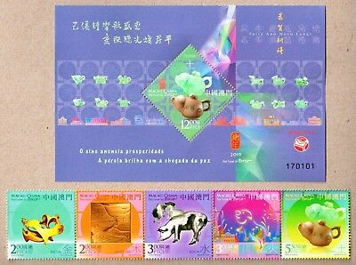 China Macau 2019-1 New Year of Pig S/S + Stamps Zodiac 豬