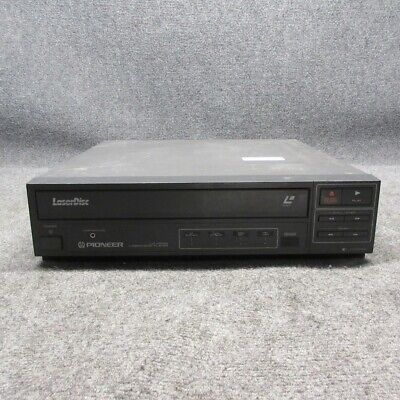 Pioneer Model LD-V2200 Laservision Laser Disc Player Deck Black *Tested Working*