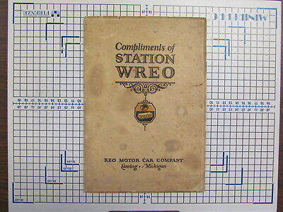 "Rare vintage 1925 Reo car ""Reo's radio station WREO"" catalog / brochure"