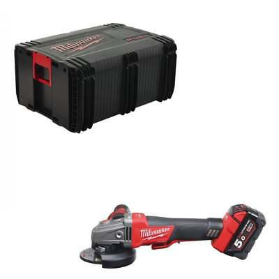 Milwaukee M18CAG115XPDB-502X 18v 115mm Angle Grinder 2 x 5ah Kit In Dynacase