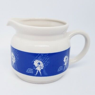 Morton Salt Girl Creamer Red Japan Sticker When It Rains It Pours Vintage Logo