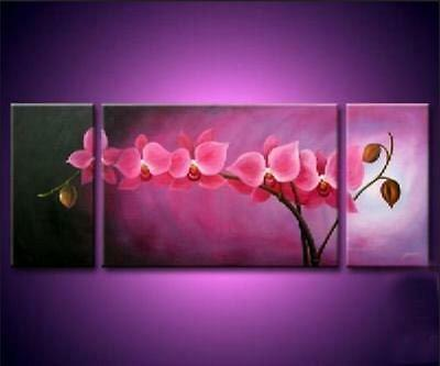 CHENPAT190 pretty 3pcs 100% hand-painted flower home oil painting art  on canvas