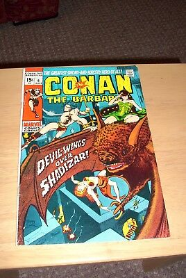 Conan the Barbarian 6 Marvel June 1971 Bronze age VG+ condition Cents issue