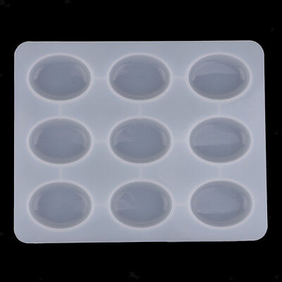 9 Cavity Oval Egg Soap Mold Silicone Mould Cake Tray for Homemade DIY Making