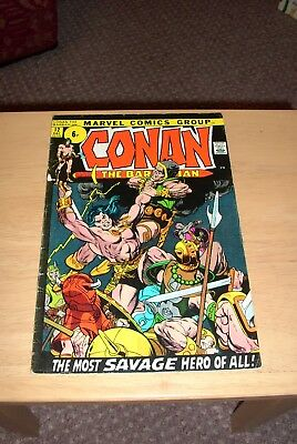 Conan the Barbarian 12 Marvel December 1971 Bronze age VG condition Barry Smith