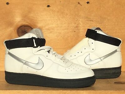 low priced 166b8 3a448 Vintage 1991 Nike Air Force 1 High White/Metallic Silver Size 5.5 Read Ad  Please