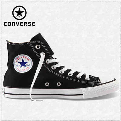 Converse M9160C Nere Alte Black High Optic White Tela Classic All Star ox unisex