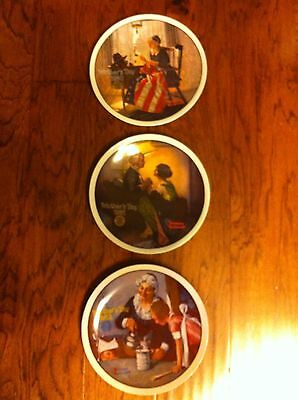1980,1981,1982 Norman Rockwell Collector Plates By Knowles Fine China