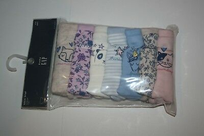 New Gap Girls 7 Pack Panties Bikini Brief Underwear 2 3 Year NWT Unicorn Animals