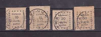 Lithuania 1919 Kaunas first issue - Mi 09-12. Complete set. Used.