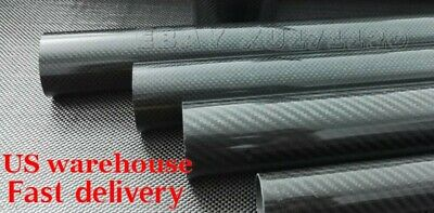 3k Carbon Fiber Tube OD 21mm- OD 60mm x 1000mm Carbon Round Pipe(Roll Wrapped)US