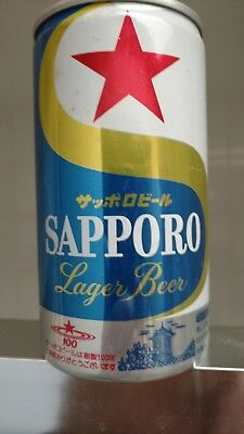 Sapporo Bottom Opened Japan Old Pull Tab Beer Can
