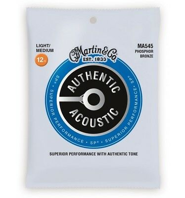 Martin MA545 - Jeu de cordes guitare acoustique - Authentic SP Bluegrass - Ligh