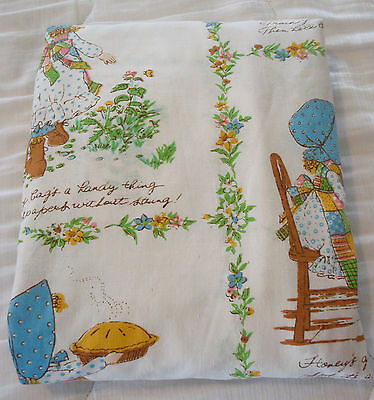 Vintage Holly Hobbie Single Fitted Twin Sheet American Greetings Corp.