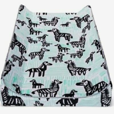 Oh Joy! Changing Pad Cover - Zebras - Black/Mint - Free Shipping