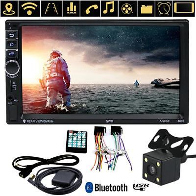 7inch 2DIN Car MP5 Player Bluetooth HD Touch Screen Stereo Radio GPS+Rear Camera