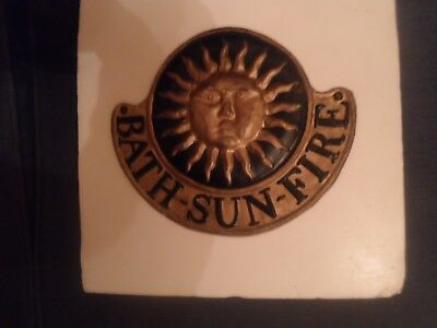 Fire Insurance Plaque Bath Sun Fire