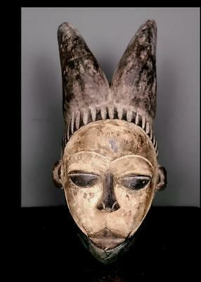 Old Tribal Igbo  Mask With Horns  --  Nigeria